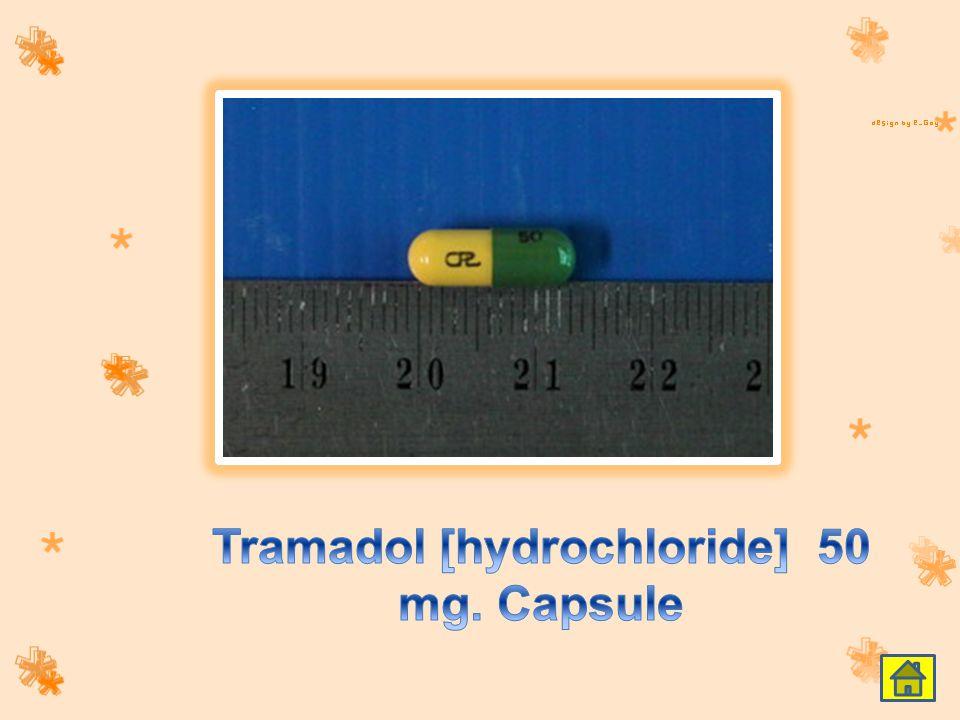 Tramadol [hydrochloride] 50 mg. Capsule